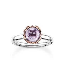 """solitaire ring """"purple lotus flower"""" from the Glam & Soul collection in the THOMAS SABO online store"""