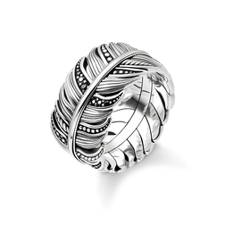 "bague ""Plume pavé"" de la collection Rebel at heart dans la boutique en ligne de THOMAS SABO"