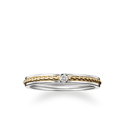 "bague eternity ""maille corde"" de la collection Rebel at heart dans la boutique en ligne de THOMAS SABO"