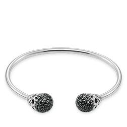 bracciale rigido teschio con pavé from the Rebel at heart collection in the THOMAS SABO online store