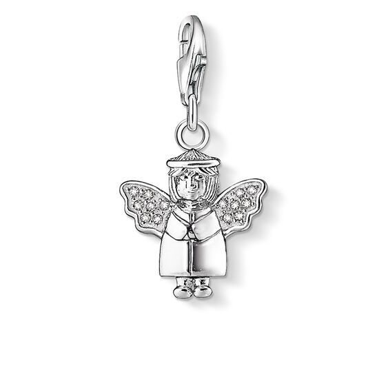 Charm pendant angel 1056 charm club thomas sabo great britain charm pendant quotangelquot from the collection in the thomas sabo mozeypictures Gallery