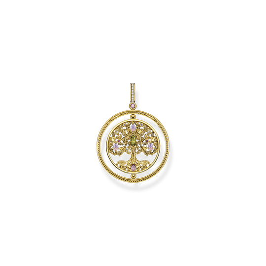 Pendant tree of love gold colourful stones from the Glam & Soul collection in the THOMAS SABO online store