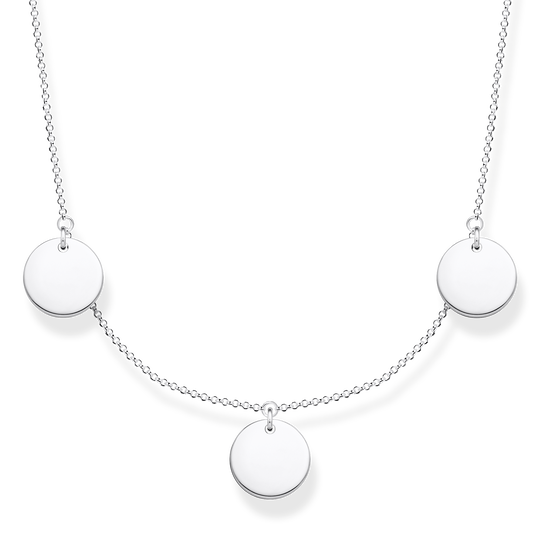 Necklace wih three discs silver from the Glam & Soul collection in the THOMAS SABO online store