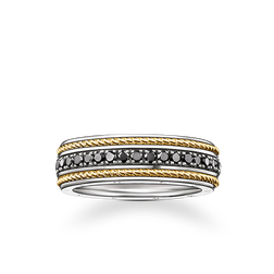 bague eternity maille corde de la collection Rebel at heart dans la boutique en ligne de THOMAS SABO