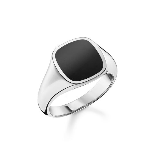 Ring classic black from the  collection in the THOMAS SABO online store