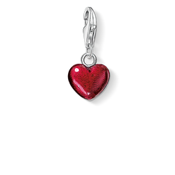 Charm pendant red heart from the  collection in the THOMAS SABO online store