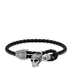 bracelet cuir tête de mort de la collection Rebel at heart dans la boutique en ligne de THOMAS SABO