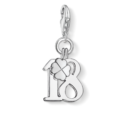 "Charm pendant ""lucky number 18"" from the  collection in the THOMAS SABO online store"