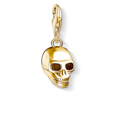 Charm pendant skull gold from the Charm Club Collection collection in the THOMAS SABO online store