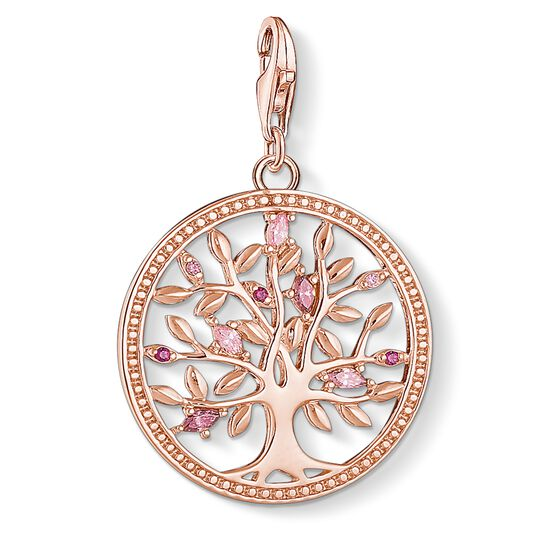 Charm pendant Tree of Love pink from the Charm Club collection in the THOMAS SABO online store