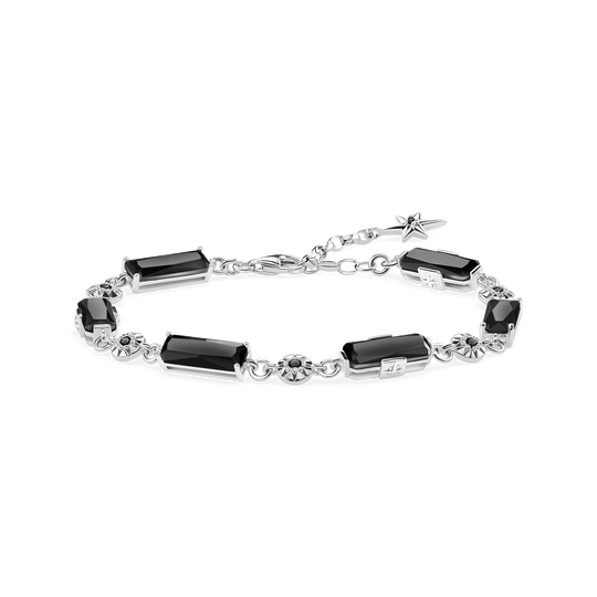 bracelet Black stones with stars from the Glam & Soul collection in the THOMAS SABO online store
