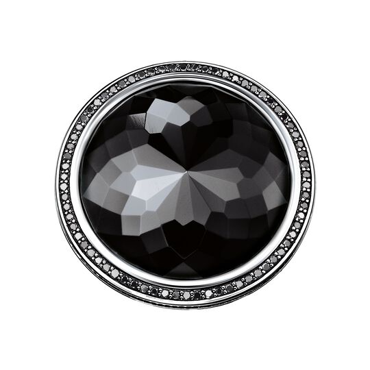 cocktail ring black Lotos from the  collection in the THOMAS SABO online store