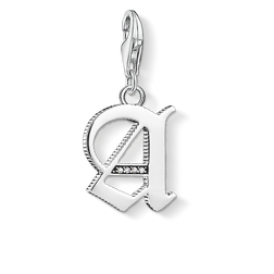 """ciondolo Charm """"lettera A argentato"""" from the  collection in the THOMAS SABO online store"""