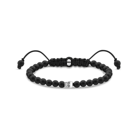 Bracelet black skull silver from the Rebel at heart collection in the THOMAS SABO online store