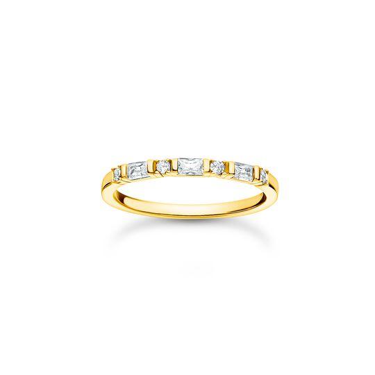 Anillo blanco piedras oro de la colección Charming Collection en la tienda online de THOMAS SABO