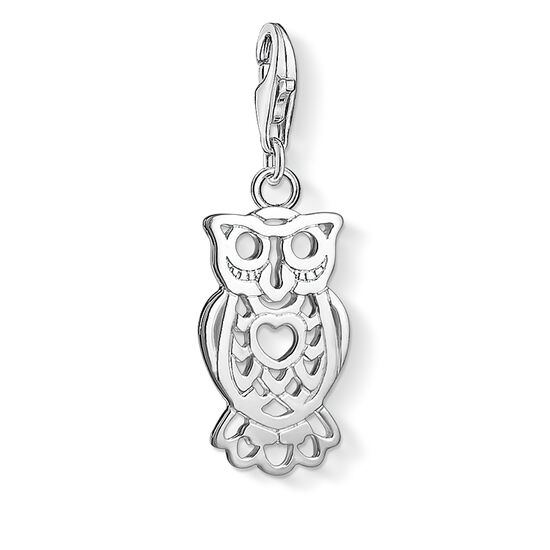 "Charm pendant ""owl"" from the  collection in the THOMAS SABO online store"
