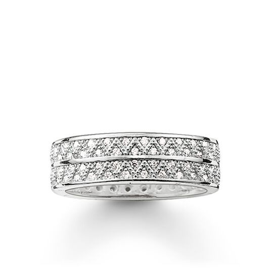 """band ring """"white zig zag"""" from the Glam & Soul collection in the THOMAS SABO online store"""