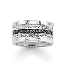 "eternity ring ""black-and-white pavé"" from the Glam & Soul collection in the THOMAS SABO online store"