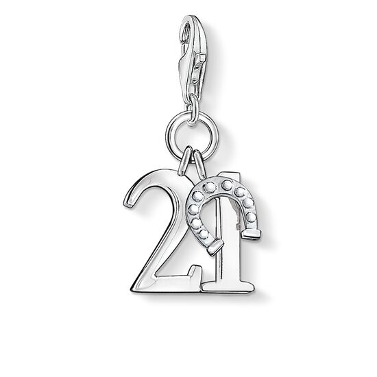 Charm pendant lucky number 21 0460 charm club thomas sabo charm pendant quotlucky number 21quot from the collection in the thomas sabo online mozeypictures Choice Image