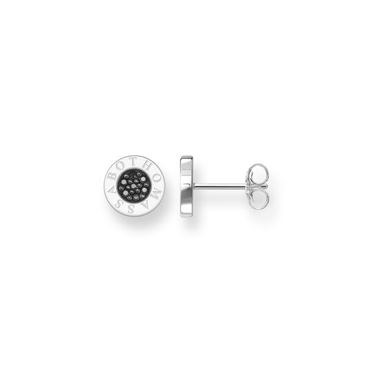 ear studs Classic Pavé black from the  collection in the THOMAS SABO online store
