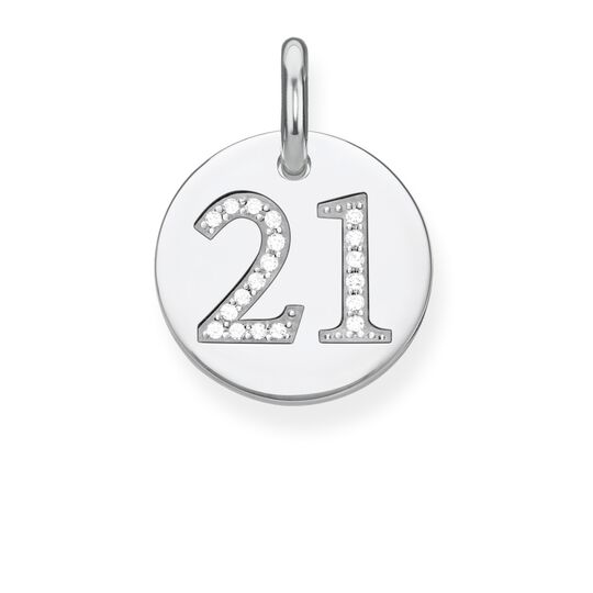 pendant coin 21 from the Love Bridge collection in the THOMAS SABO online store