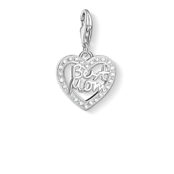"Charm pendant ""heart BEST MOM"" from the  collection in the THOMAS SABO online store"