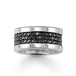 anillo eternity Classic negro de la colección Glam & Soul en la tienda online de THOMAS SABO