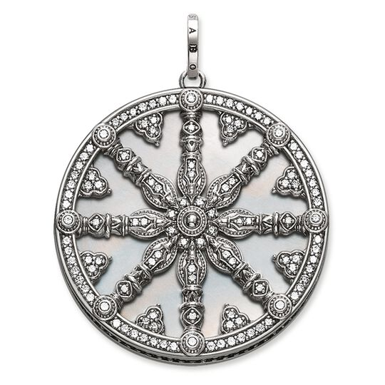 """pendant """"Karma Wheel with mother-of-pearl disc"""" from the Karma Beads collection in the THOMAS SABO online store"""