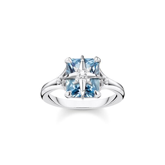 ring blue stone with star from the  collection in the THOMAS SABO online store