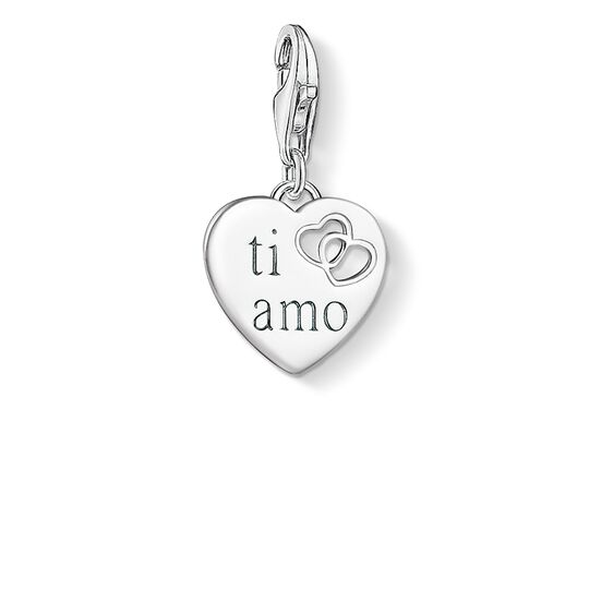 Charm pendant TI AMO heart from the  collection in the THOMAS SABO online store