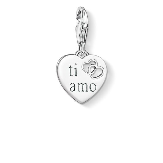 "Charm pendant ""TI AMO heart"" from the  collection in the THOMAS SABO online store"