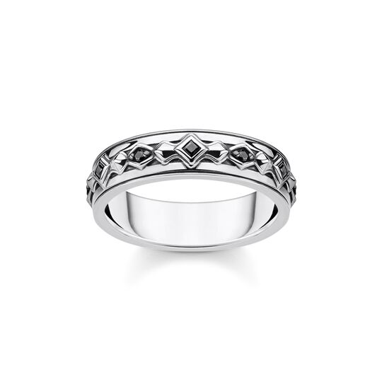 Ring black stones, silver from the  collection in the THOMAS SABO online store
