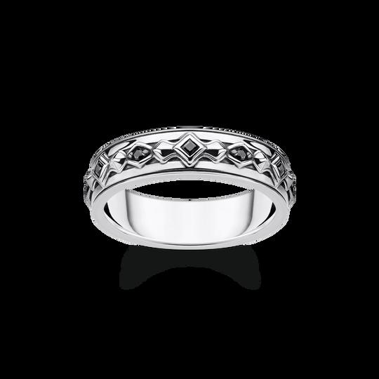 Ring schwarze Steine silber aus der Rebel at heart Kollektion im Online Shop von THOMAS SABO