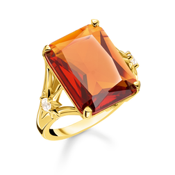 ring Orange stone, large, with star from the Glam & Soul collection in the THOMAS SABO online store