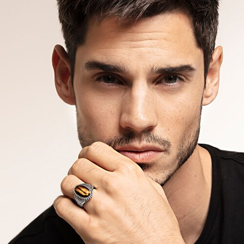"ring ""brown"" from the Rebel at heart collection in the THOMAS SABO online store"