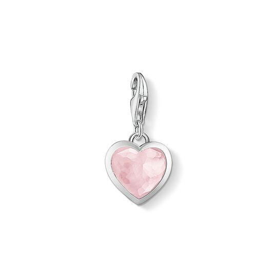 Charm pendant pink heart from the Charm Club collection in the THOMAS SABO online store