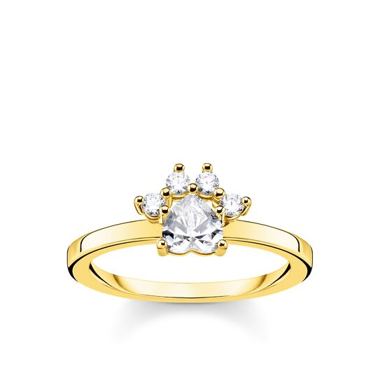 ring paw cat gold from the Glam & Soul collection in the THOMAS SABO online store