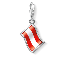 Charm pendant flag Austria from the Charm Club Collection collection in the THOMAS SABO online store