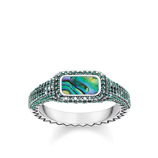 """ring """"Play of colours green"""" from the Glam & Soul collection in the THOMAS SABO online store"""