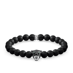 "bracelet ""Black Cat onyx"" from the Rebel at heart collection in the THOMAS SABO online store"