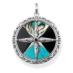 "pendant ""compass large"" from the Rebel at heart collection in the THOMAS SABO online store"