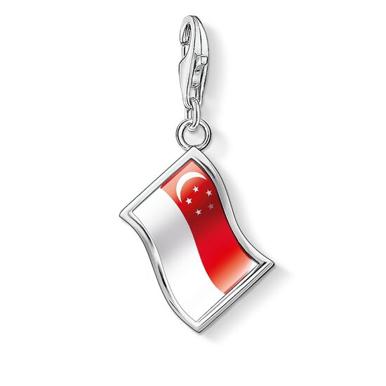 """ciondolo Charm """"bandiera Singapore"""" from the  collection in the THOMAS SABO online store"""