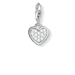 "Charm pendant ""glitter heart"" from the  collection in the THOMAS SABO online store"