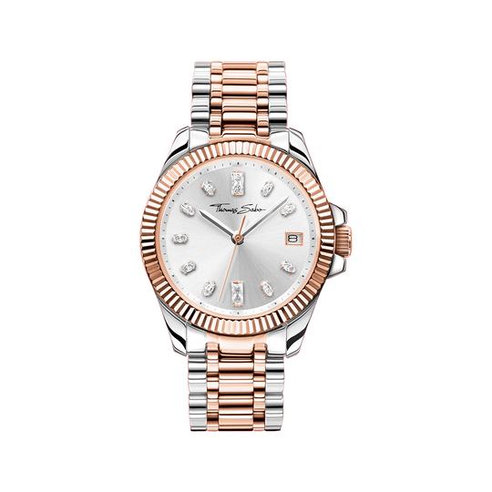 Women's watch two-tone rose gold silver from the Glam & Soul collection in the THOMAS SABO online store