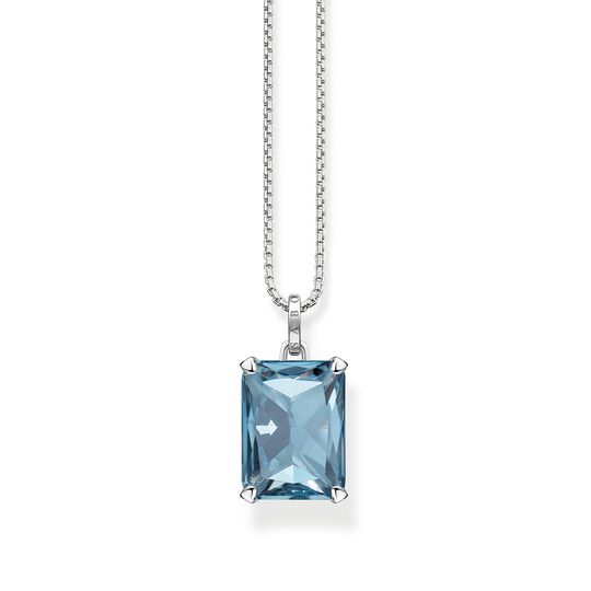 necklace large blue stone from the  collection in the THOMAS SABO online store