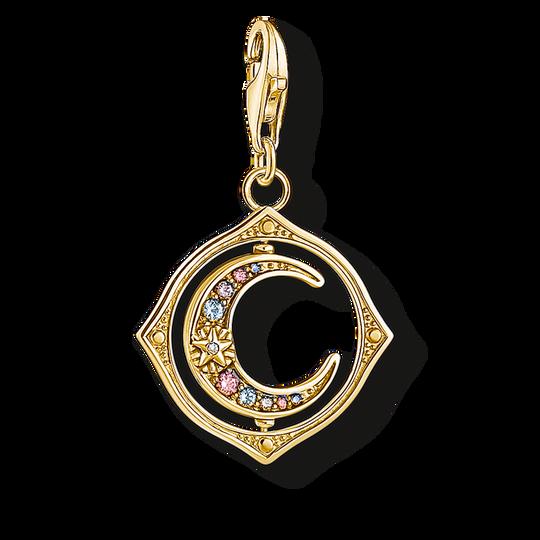 Pendentif Charm lune pierres multicolores or de la collection Charm Club dans la boutique en ligne de THOMAS SABO