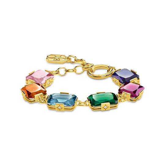 Bracelet large colourful stones, gold from the  collection in the THOMAS SABO online store