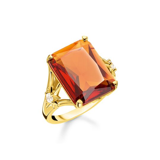 ring Orange stone, large, with star from the  collection in the THOMAS SABO online store