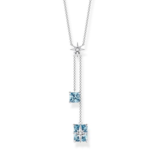 necklace large blue stones with star from the  collection in the THOMAS SABO online store
