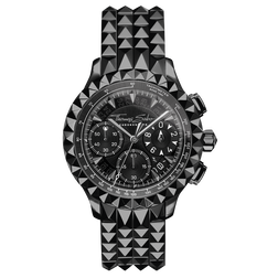montre pour homme Rebel at Heart Chronograph noir de la collection Rebel at heart dans la boutique en ligne de THOMAS SABO